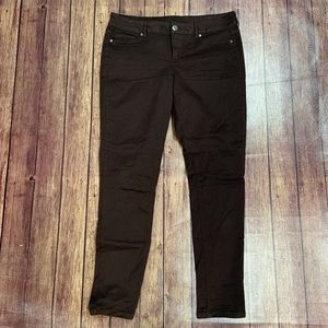 Maurices Chocolate Brown Skinny Jeans